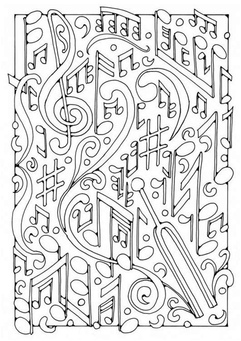 coloring pages music adult coloring page music musical notes 3