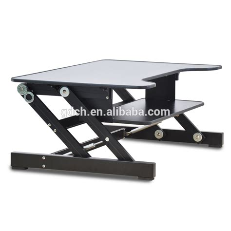 computer desk with laptop stand ergonomic design adjustable height sit stand desk
