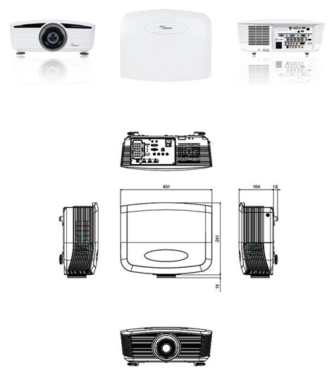 Optoma Projector Professional Series Eh 505 Throw Lens optoma eh505 dlp wuxga professional projector optoma