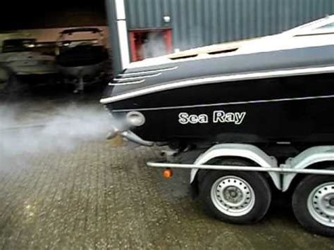 side boat exhaust bernico open exhaust side pipes sea ray 5 7 v8 vreys 2