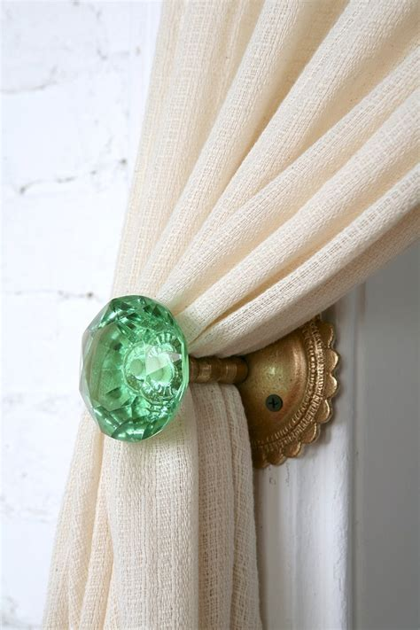 Vintage Door Knob Curtain Tie Backs by Door Knob Curtain Tie Back Outfitters