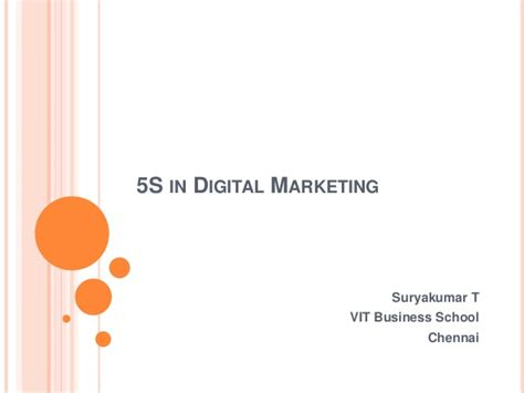 Of Connecticut Mba In Digital Marketing by 5 S In Digital Marketing Factors Considered