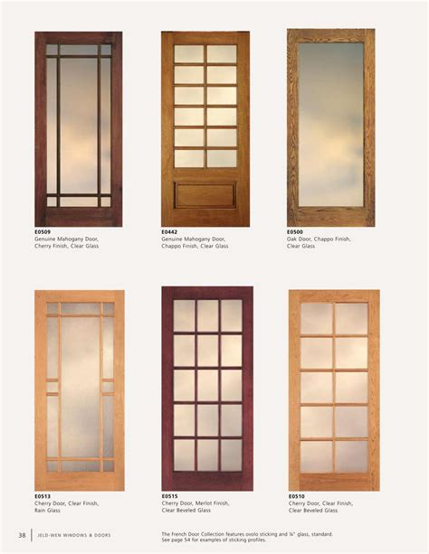 Glass Paneled Interior Door Jeldwen Door Jeld Wen Exterior Doors