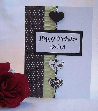 How To Make A Handmade Birthday Card - card idea to make a birthday card and other