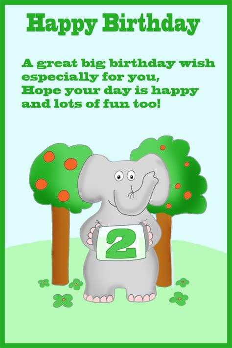 Happy 2nd Birthday Card Printable Happy 2nd Birthday Card Birthday Party Ideas