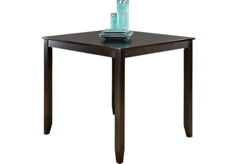 sunset view espresso square counter height table dining
