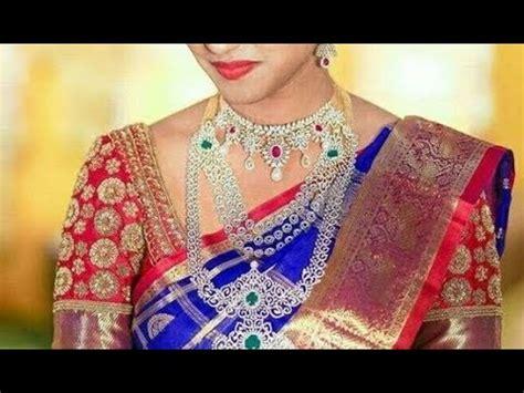 Royal Top Blouse Hq royal blue bridal pattu silk sarees with contrast blouse collection part 2