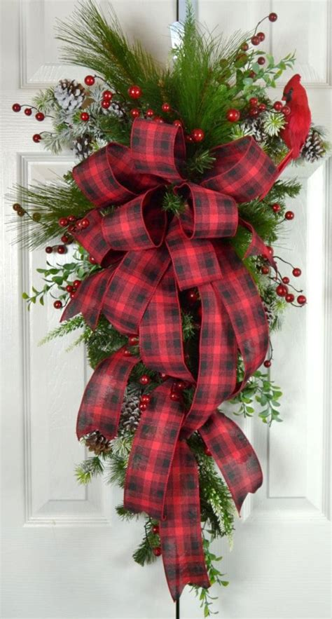 25 best ideas about christmas front doors on pinterest