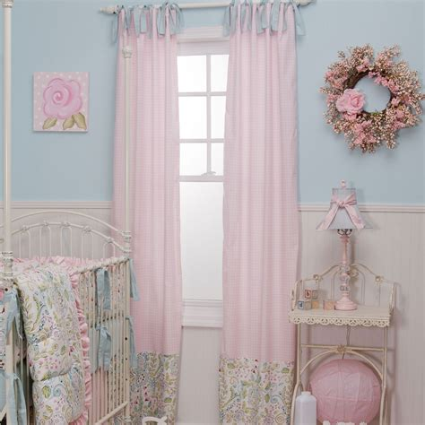 Nursery Curtains Pink Modern Home Interiors How Lacy Pink Curtains For Nursery