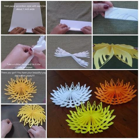How Do You Make A 3d Paper Snowflake - 3d paper snowflake step by step tutorial usefuldiy