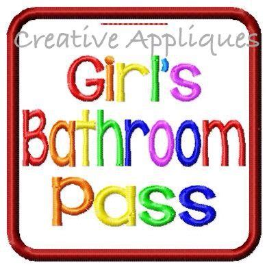 girls bathroom pass girls bathroom pass