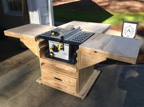 Build Your Own Kitchen Island Plans quick convert tablesaw router miter saw caddy by gcsdad