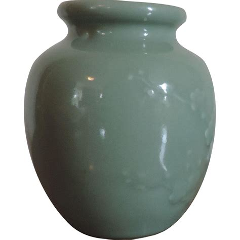antique 19th century celadon porcelain jar or vase