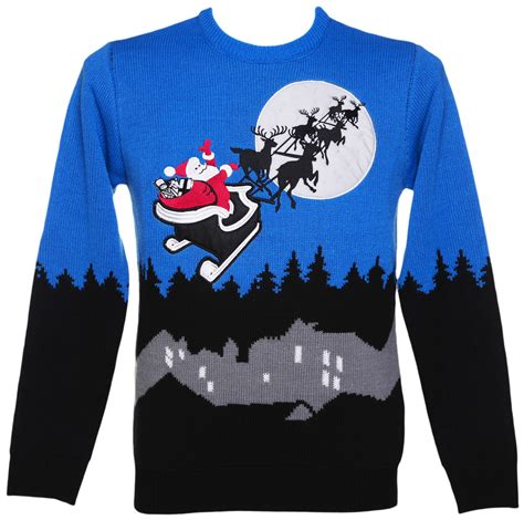 Unisex Retro Led Lightup Sleigh Ride Christmas Jumper From Jumpers With Lights Uk