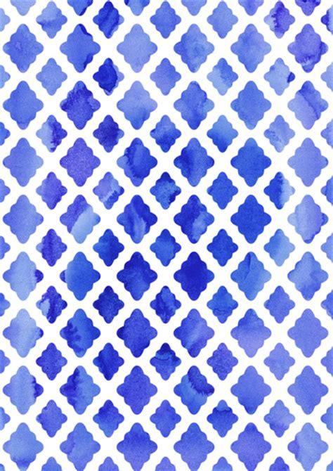 diamond pattern in turbo c watercolor diamonds in cobalt blue art print blue art