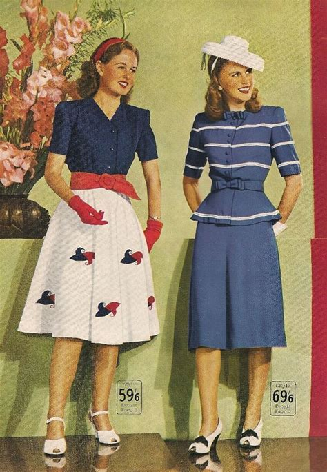 swing era fashion style wakes catalogue summer 1946 vintage fashion style