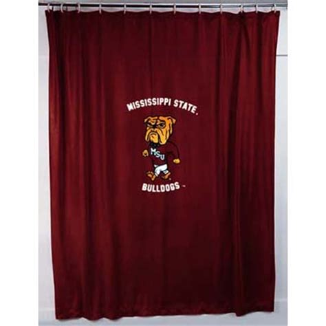 locker room shower curtains mississippi state bulldogs locker room shower curtain