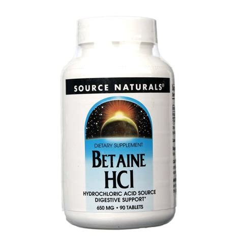 Betaine Hcl Detox Symptoms by Source Naturals Betaine Hcl 650 Mg 90 Tablets