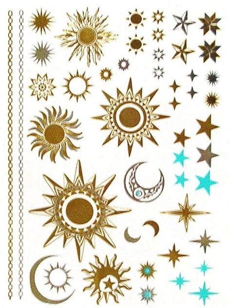 three star and the sun tattoo design 60 and sun tattoos ideas with meaning