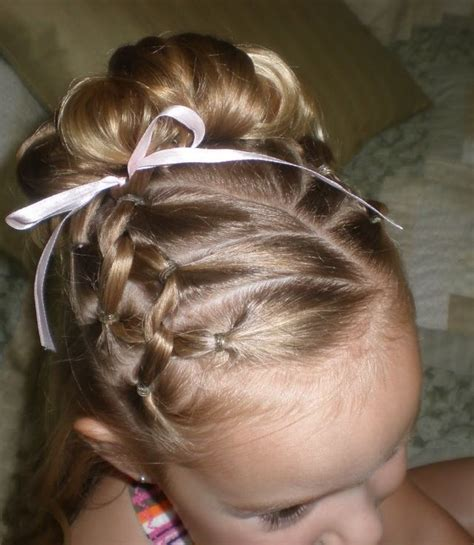 gymnastics hairstyles for fine hair cute french braids children s hair pinterest twists