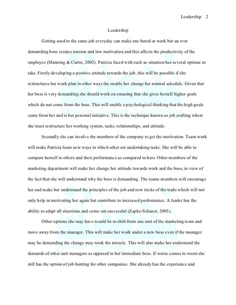 Leadership Essay by Prime Essay Writings Sle Leadership Essay