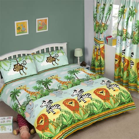 jungle bedding jungle tastic animal themed bedding bedroom single