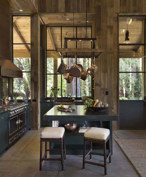 small woodsy cabin features  cozy farmhouse style  napa valley