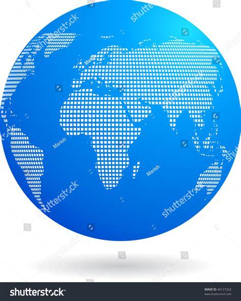 dot pattern globe blue globe background with binary dots white pattern stock