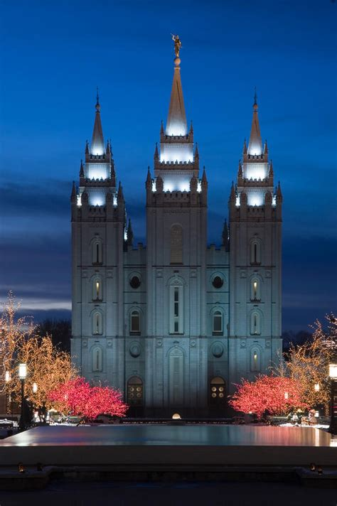 mormon temple christmas lights by utah images
