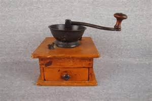Wooden Coffee Grinder Wooden Coffee Grinder With Drawer Lot 1