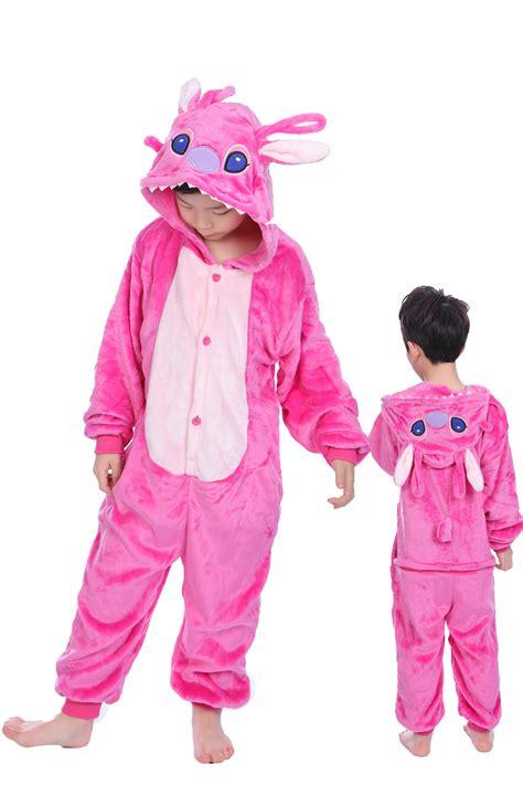Jam Flanel Stitch Pink pink stitch anagel onesie kigurumi pajamas animal costumes for cheap price kigurumi