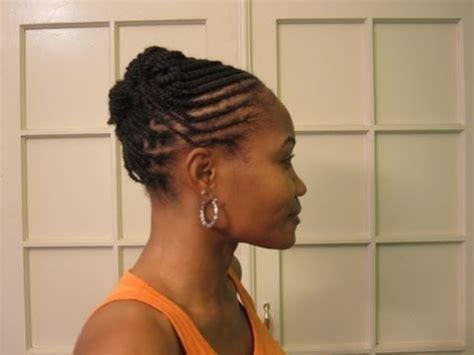 cornrows & box braids (braided updo hairstyle) youtube