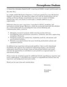 Lead Mechanical Engineer Cover Letter by Mechanical Engineer Cover Letter Exles For Engineering Livecareer