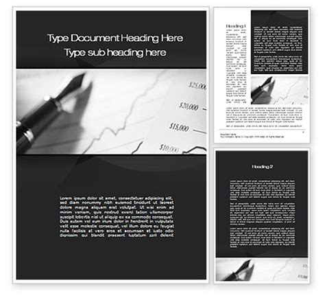 financial reporting package templates financial report word template 10324 poweredtemplate