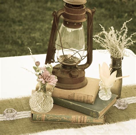 Vintage lantern and books   ** All Things Wedding