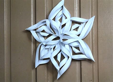 make a 3d paper snowflake beautiful birthdays and how