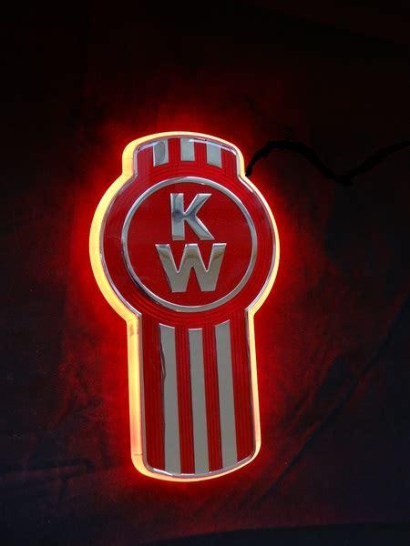 kenworth logo kenworth logo backlight red ebay