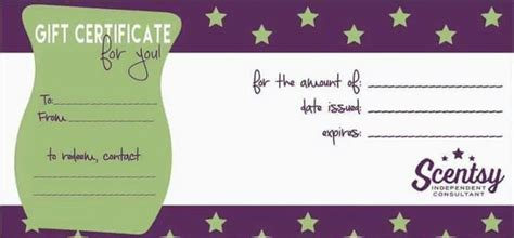 Scentsy Gift Card Template by The World S Catalog Of Ideas