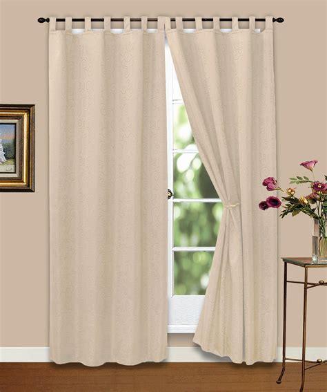 Vorhang Gardine Blickdicht Ornamente Creme 140x245 Cm Ebay