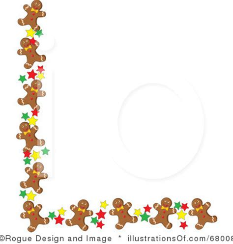 free printable gingerbread man border gingerbread border free clipart