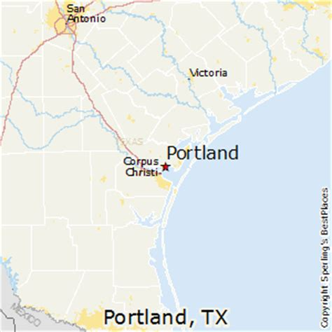 map of portland texas portland texas map map