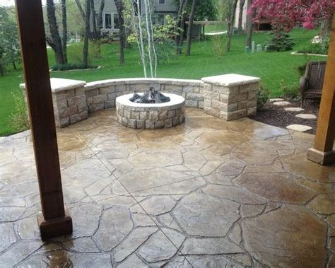 25 best ideas about concrete patios on