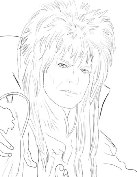coloring david bowie labyrinth coloring pages