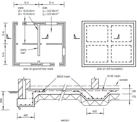 design concept of raft foundation design exle nominal crust raft builder s engineer