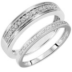 his and hers white gold wedding bands white gold wedding band sets his hers wedding and bridal