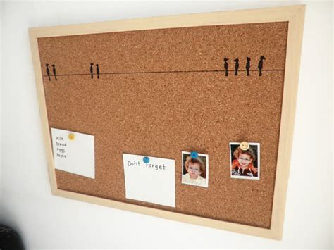 How To Make Decorative Cork Boards by Decorative Memo Cork Board Birds Painted Message
