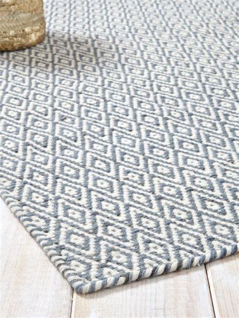 skandinavische teppiche 69 teppich rautenmuster reine wolle blaugrau schwarz