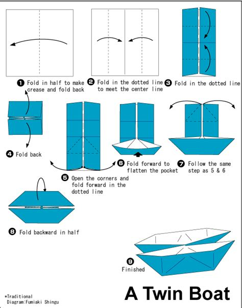 how to make a paper speed boat that floats in water twin boat easy origami instructions for kids