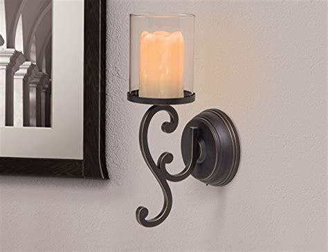 Flameless Candle Wall Sconce Set 2 Candle Impressions Flameless Candle Wall Sconces W Timer And Duracell Batteries Included Set Of 2