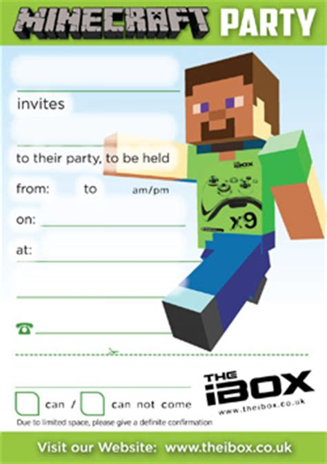 minecraft party invitations theruntime com